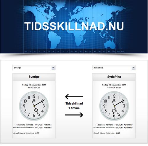 Screenshot av Tidsskillnad.nu