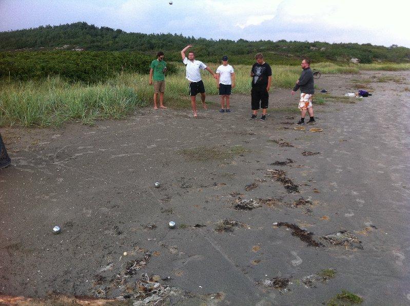 Boule på stranden